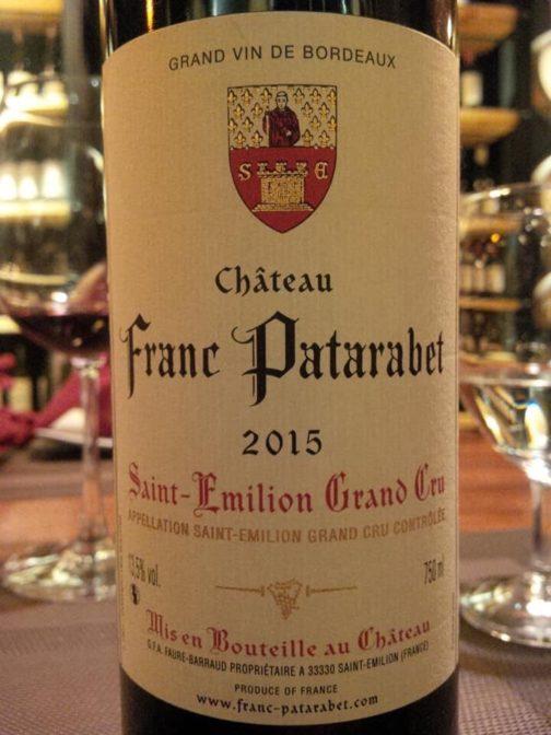 Rượu Vang Pháp Chaateau Franc Patarabet Saint Emilion Grand Cru